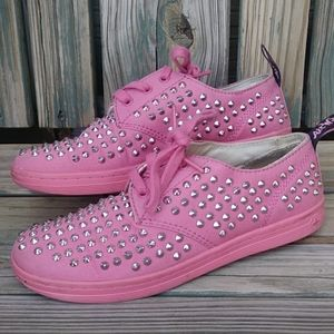 Dr. Marten Low Cut Pink Studded Sneakers